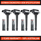 Set 4x Platinum NGK Spark Plugs 4x Swan Ignition Coils for Nissan Tiida X Trail