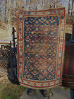 Antique Caucasian rug Distressed Kazak wonderful carpet late 19th century