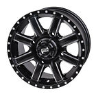 4/110 Tusk Cascade Wheel 12x7 5.0 + 2.0 Machined/Black for Bombardier Traxter 50