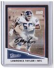 2017 Classics Lawrence Taylor Black Border Autograph Card 1 1 ONE OF ONE GIANTS!