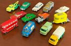 Early 1960s Vintage Lot 13 Lesney Matchbox Cars Trucks Trailer Buses