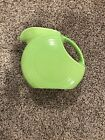 Fiestaware Chartreuse Large Disc Pitcher Fiesta Retired Lime Green - Gently Used
