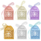 25 50 100Pcs Cross Laser Cut Candy Favor Gift Boxes Wedding Party Baby Shower