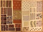 19th Century French Cotton Printed assorted designs Fabric Swatch Book