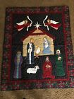 Wall Art Quilt Christmas Nativity Appliqu 49x 59 Manger Baby Jesus