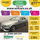 2015 SILVER MERCEDES C250 21 AMG LINE PREMIUM PLUS SALOON CAR FINANCE FR 71 PW