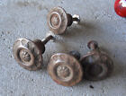 Lot of 4 Vintage Small Matching Metal Drawer Pulls Look