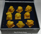Rare Shoushan Stone Dragon Lion Beast 9 Dynasty imperial Seal Stamp Signet Set