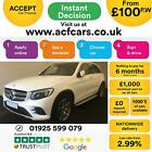 2015 WHITE MERCEDES GLC250 21 AMG LINE PREMIUM 4MATIC CAR FINANCE FR 100 PW