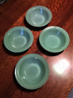 Vintage Fire King Jadeite Cereal Bowls Flanged Top Heavy Restaurant