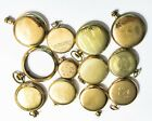 BULK LOT - 270G - GOLD FILLED 0S-18s POCKET WATCH CASES - GOLD SCRAP (B7)