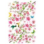 Large Flower Cherry Blossom Butterfly Tree Wall Sticker Decal Home Decor DJ8X