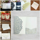 Personalized Laser Cut Printing Wedding Invitation Cards with Envelopes Seals US