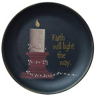 PRIMITIVE DECOR ~Faith Will Light Plate  ~ COUNTRY ~ FARMHOUSE