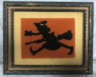 Primitives By Kathy HALLOWEEN 7 3/8 Fabric WITCH PUNCH NEEDLE Wall Decor ~ 16718
