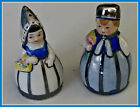ANTIQUE  SILVER LINED  DUTCH BY  GIRL  SALT  PEPPER  PROBABLY FROM GERMANY