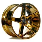 For 6 Series 20 Staggered AC Wheels AC607 Platinum Gold Popular Rims Fit