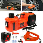 5 Ton Electric Hydraulic Floor Jack Lift+Electric Impact Wrench Car Van