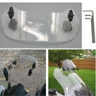 Motorcycle Adjustable Clip On Wind shield Deflector Windscreen Extension Spoiler