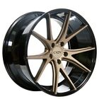 For 5 series 20 Staggered Azad Wheels AZ36 Bronze W Black Popular Rims