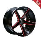 For 5 series 20 Staggered or Non Staggered Marquee 3226 Black Red Wheels Popular