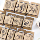 Wooden Rubber Stamp Lovely Animal Plant Scrapbooking Stationery Craft Stamp