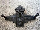 Gothic Tiger Oak Griffin Coat Rack Carved Victorian Hall Tree Wall Hat Holder
