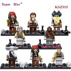 8pcs Pirates of Caribbean Captain Jack Sparrow Minifigures Figure Custom LEGO #1