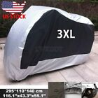 XXXL Waterproof Motorcycle Silver Cover For Harley Davidson Street Glide Touring