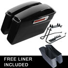 Painted Saddlebags Saddle Bag W Conversion Brackets For Harley Softail Heritage