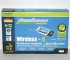 Linksys WPC54GS PCMCIA Wireless G Internet Adapter Notebook Laptop SpeedBooster