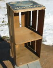 Vtg Wood Wooden Produce Crate Shelf Table MansionValencias Antique Primitive Old