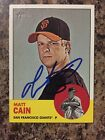 MATT CAIN GIANTS SIGNED AUTOGRAPH 2012 TOPPS HERITAGE BASEBALL CARD