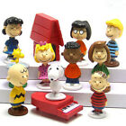 12 PCS Peanuts Charlie Brown Snoopy PVC Figure Cake Topper Kids Gift Doll Toy US