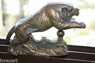 Old Antique Chinese Bronze Tiger Stamped Green Patina Gorgeous Home Bar Decor 7