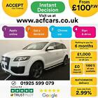 2015 WHITE AUDI Q7 30 TDI 245 QUATTRO S LINE SPORT EDT CAR FINANCE FR 100 PW