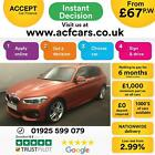 2016 ORANGE BMW 125D 20 M SPORT DIESEL AUTO 5DR HATCH CAR FINANCE FR 67 PW