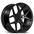 Set of 4 20 Staggered Giovanna Wheels Haleb Black Popular Rims