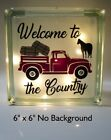 Welcome to the Country Old truck hay horse decal sticker for DIY 8 Glass Block