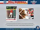 2019 Topps Opening Day Baseball Sealed Hobby Box - Presell 3 13 19 Release Date