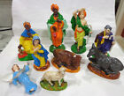 vintage 1970s Atlantic Holland Mold ceramic nativity set9 pieces