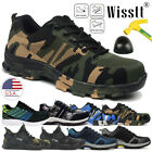 Mens Safety Shoes Non Slip Steel Toe Work Boots Breathable Hiking Climbing Multi