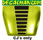 JEEP CJ5 CJ7 CJ8 Blackout stripes vinyl hood decal Scrambler Renega