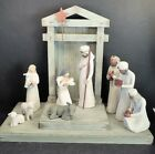 WILLOW TREE NATIVITY HOLY FAMILYCRECHE SHEEPWISEMEN SHEPHERD DONKEY MIB
