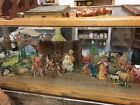 Vintage Antique Christmas Crib Nativity Scene 1933 Paper Cardboard Stand up