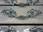 ONE Vtg Fancy SHABBY Provincial Scroll KEELER Brass Pull Handle Dresser 3