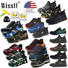 Mens ESD Safety Shoes Steel Toe Steel Sole Breathable Work Outdoor Boots Size U