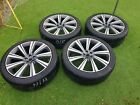 Genuine Jaguar F Pace 22 Turbine 9006 Alloy Wheels + Perilli P Zero Tyres
