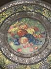 A GREAT 19TH C PENNSYLVANIA PAINT DECORATED TIN TOLEWARE Pan