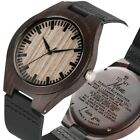 Engraved Wood Watch Personalized Watches for Family Lovers Important Person Gift